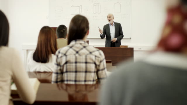 Professor and students in the classroom