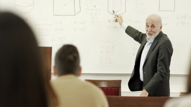 professor and students in the classroom - lecturer stock videos & royalty-free footage
