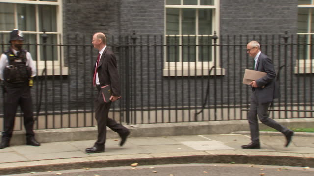 """professor chris whitty and sir patrick vallance uk government chief medical and scientific advisers arriving at 10 downing street for press... - """"bbc news"""" stock videos & royalty-free footage"""