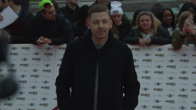 professor green at mobo awards 2014 at wembley arena on october 22, 2014 in london, england. - wembley arena stock videos & royalty-free footage