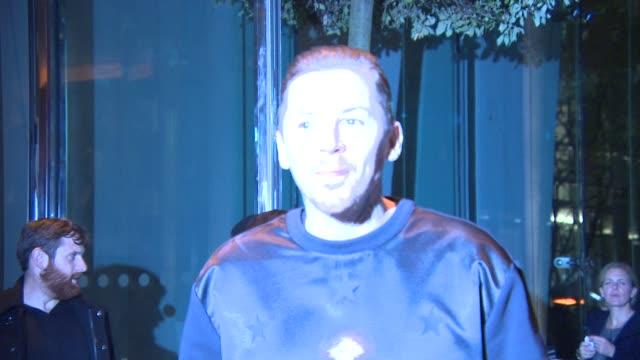 professor green at mondrian hotel - launch party at mondrian hotel on october 09, 2014 in london, england. - モンドリアンホテル点の映像素材/bロール