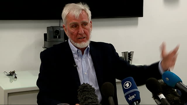 professor john o'keefe wins nobel prize press conference and interview o'keefe press conference sot - conference phone stock videos & royalty-free footage