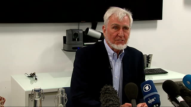 Professor John O'Keefe wins Nobel Prize Press conference and interview ENGLAND London INT Professor John O'Keefe along into presser / John O'Keefe...