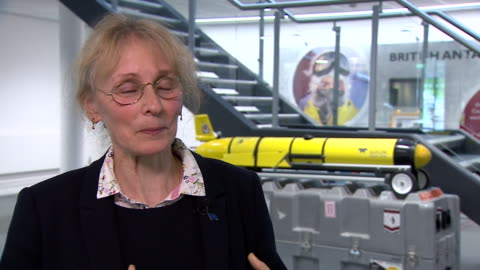 """professor karen heywood saying it will be """"scary"""" but also """"thrilling"""" to be the first team of scientists to send a submarine underneath the thwaites... - glacier stock videos & royalty-free footage"""