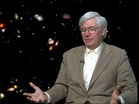 professor michael rowan-robinson interview sot - hubble space telescope stock videos & royalty-free footage