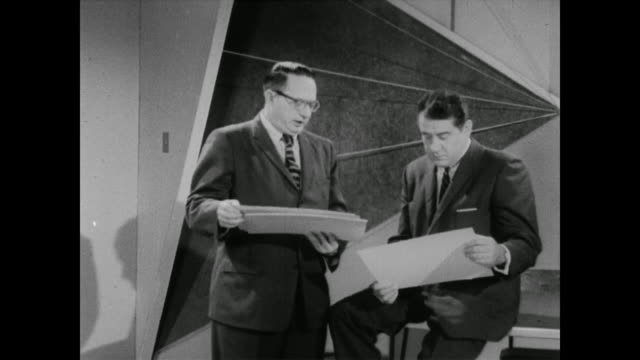 1960 professor philip hauser talks with george stone about the questions asked during a census - census stock videos & royalty-free footage