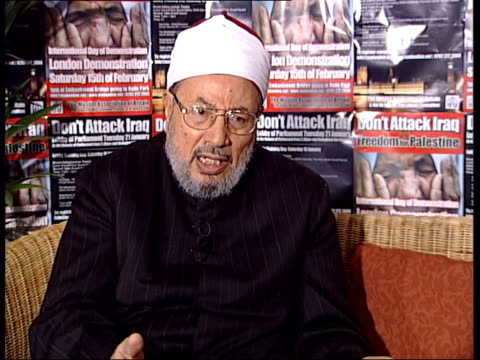Professor Shaikh Yusuf AlQaradawi interview SOT I was told there were poisons discovered/ this is act Islam would denounce completely/ also heard...
