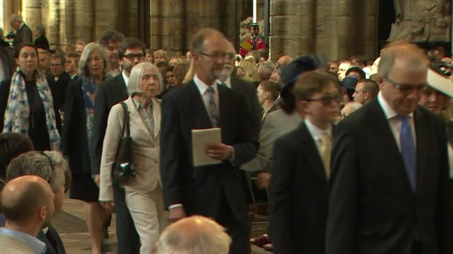 Professor Stephen Hawking's ashes interred in Westminster Abbey UK London Westminster Abbey Service of Thanksgiving for Professor Stephen Hawking...