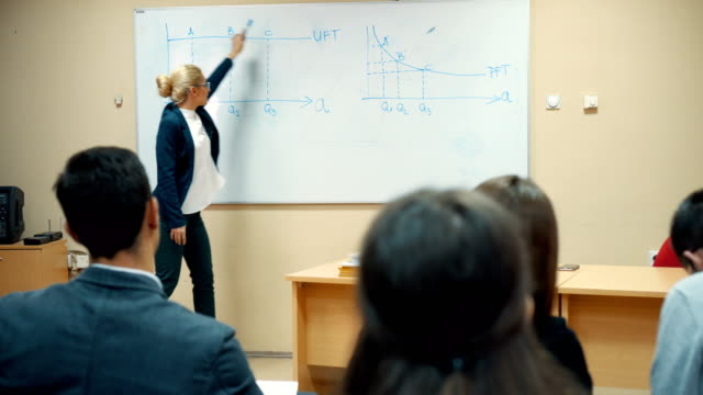 professor teaching in the classroom - professor stock videos & royalty-free footage