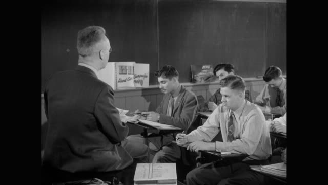 ms professor teaching students in classroom / united states - 1940 stock videos and b-roll footage