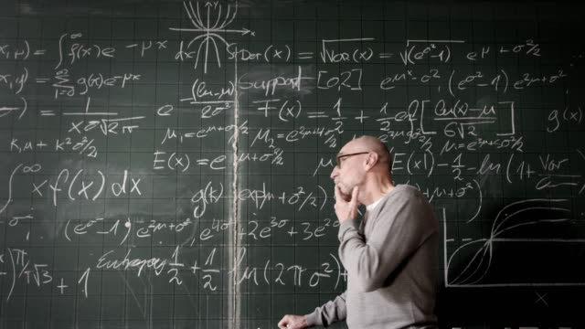 professor thinking - mathematics stock videos and b-roll footage