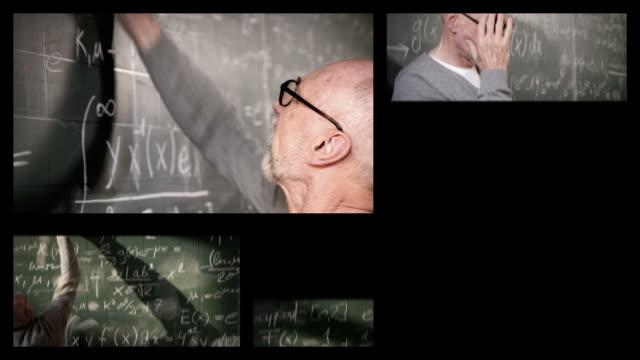 vídeos y material grabado en eventos de stock de profesor con estudiantes (splitscreen - pantalla dividida