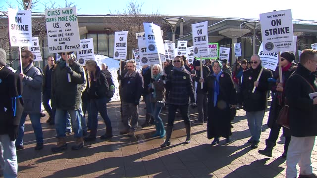 professors at the university of illinois at chicago went on strike on february 18 2014 in chicago illinois this is the first time the school's 30... - trade union stock videos & royalty-free footage