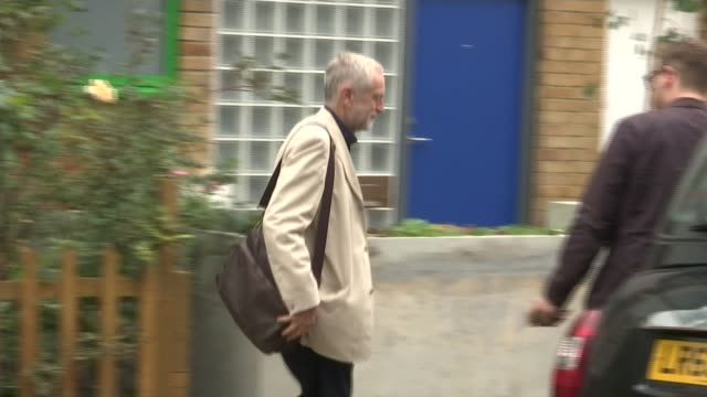 profile of jeremy corbyn's constituency of north islington; 13.9.2015 / t13091503 jeremy corbyn mp and others from his home to taxi/ may 1997 : tony... - wife stock videos & royalty-free footage