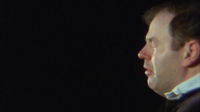 slo mo, cu, profile of man sneezing - sneezing stock videos & royalty-free footage