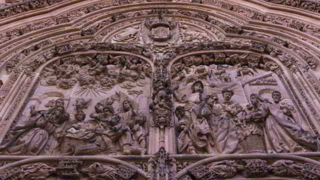 Profuse decoration in the New Cathedral in Salamanca city, Salamanca province, Castilla y Leon, Spain, Europe