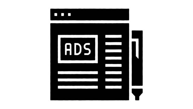programmatic advertising line drawing & ink splatter reveal animation with alpha - advertisement stock videos & royalty-free footage