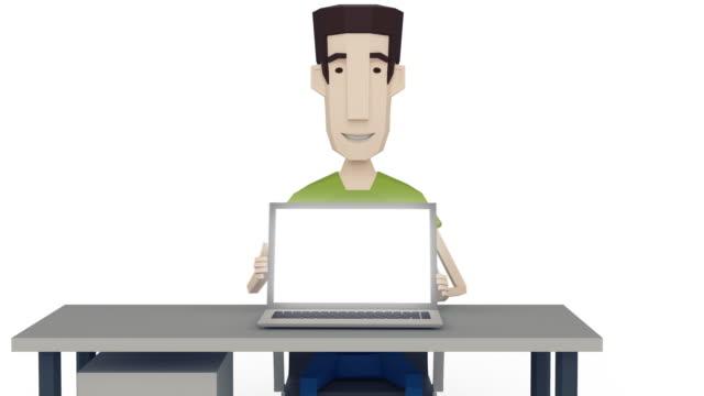 vídeos de stock, filmes e b-roll de programmer mostra seu trabalho - personas de negocios