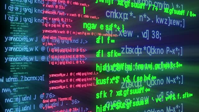 vídeos de stock, filmes e b-roll de programação e codificação do código da internet looping em fundo preto. - hacker