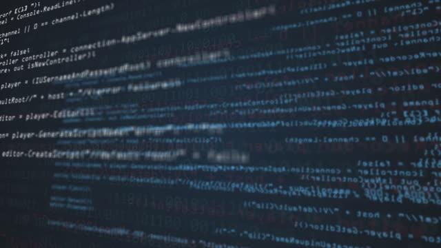 vídeos de stock e filmes b-roll de programming source code abstract background - java linguagem de programação