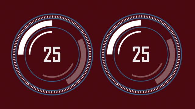 Barre de progression - style numérique, design radial
