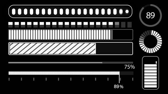 progress bars c - design element stock videos & royalty-free footage