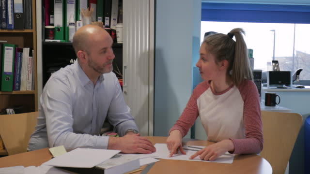 progress review meeting with her tutor - newcastle upon tyne stock videos & royalty-free footage