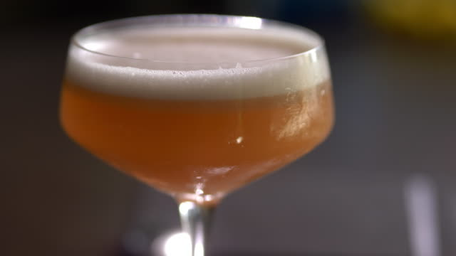 prohibition gin fizz craft cocktail - anorexia nervosa stock videos & royalty-free footage