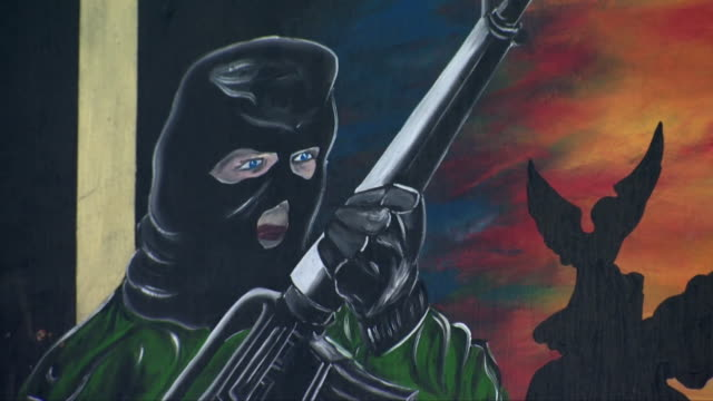 pro-ira signs and messages in belfast - belfast stock videos & royalty-free footage