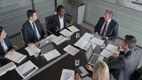 cs project analysts in a meeting with the project manager in the conference room - business meeting stock videos & royalty-free footage