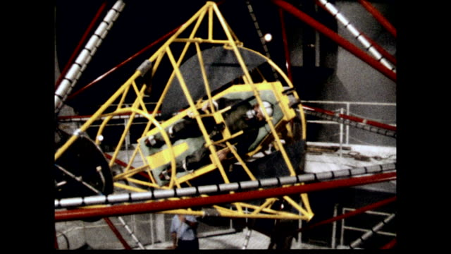 project mercury 7 astronauts strapped into gyroscopes during training on january 01, 1961 - 1961 stock videos & royalty-free footage