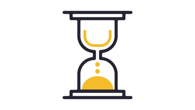Project Scheduling Line Icon Animation with Alpha