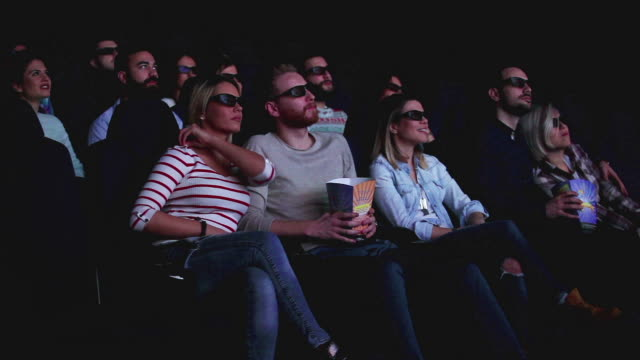 3d projection at cinema - comedian stock videos & royalty-free footage