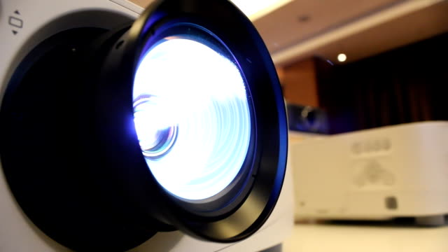 projector lens - entertainment center stock videos and b-roll footage