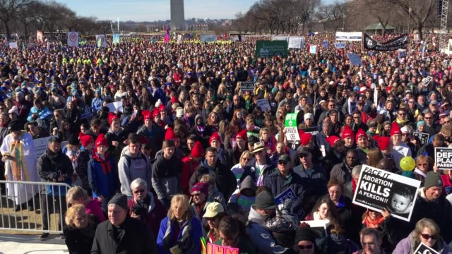 pro-life activists gather at the national mall for a rally prior to the annual march for life event. january 19, 2018. washington, dc. - abortion stock videos & royalty-free footage