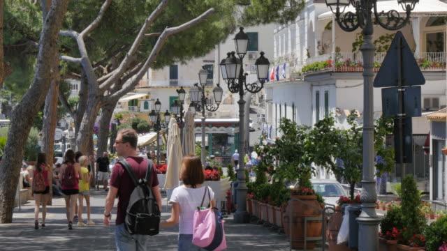 promenade, amalfi, costiera amalfitana (amalfi coast), unesco world heritage site, campania, italy, europe - amalfi stock videos and b-roll footage