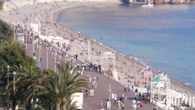 W/S, Promenade des Anglais, Mediterranean Sea, Azur, beach, palm trees, Nice, France