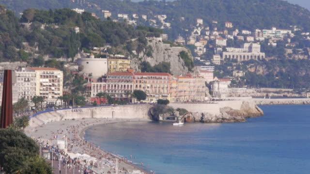 W/S, Promenade des Anglais, Mediterranean Sea, Azur, mountains, beach, Nice, France