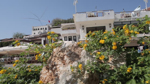 promenade restaurants, marmaris, anatolia, turkey - marmaris stock videos & royalty-free footage