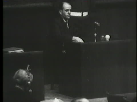 a prominent nazi testifies at the nuremberg trials about a telegraph sent by goering to hitler. - nuremberg trials stock videos & royalty-free footage
