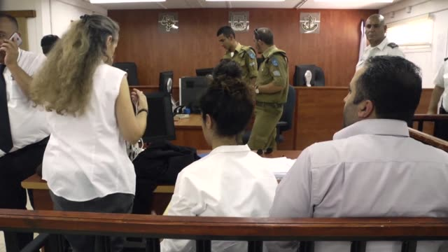 prominent palestinian activist issa amro went on trial in an israeli military court sunday on accusations of inciting violence charges rights groups... - court stock videos & royalty-free footage