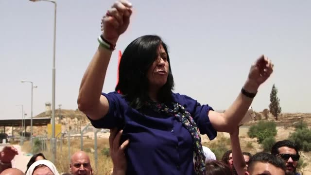 a prominent palestinian lawmaker vowed to continue campaigning for prisoners rights following her release after 14 months in an israeli jail - prisoner stock videos and b-roll footage