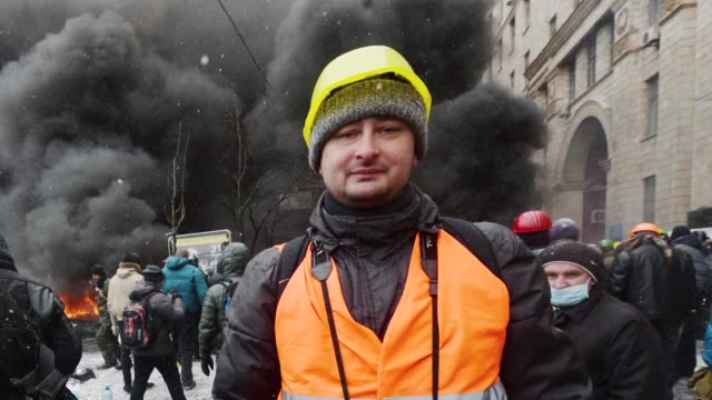 prominent russian war reporter arkady babchenko who was shot dead in the stairwell of his building in kiev tuesday is the latest kremlin critic to be... - ukraine stock videos & royalty-free footage