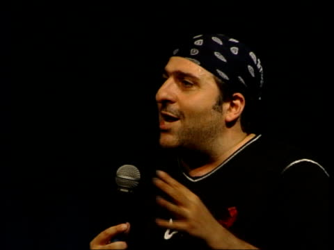 'promise land' animation film itn englishiranian comic omid djalili performing one man show 'behind enemy lines' at edinburgh festival omid djalili... - apt stock videos and b-roll footage