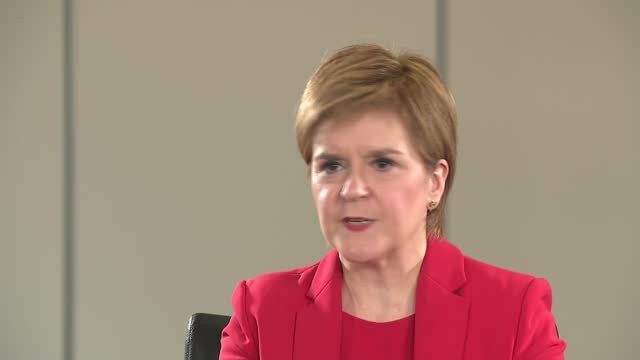 promises 'transformational' spending increase for frontline nhs services in manifesto; part 1 of 2 scotland: int nicola sturgeon msp interview sot -... - politics video stock e b–roll