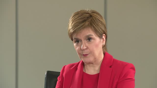 promises 'transformational' spending increase for frontline nhs services in manifesto; scotland: glasgow: int nicola sturgeon msp interview sot - [re... - politics video stock e b–roll