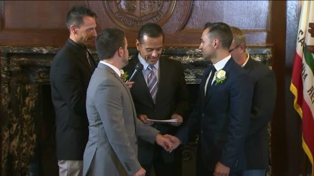 Prop 8 Plaintiffs Wed in Los Angeles on June 28 2013 in Los Angeles California