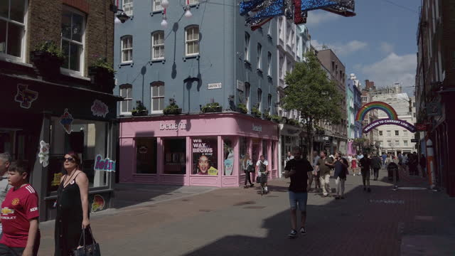 properties in soho, covent garden and chinatown owned by shaftesbury plc, who have noted an increase in demand for empty commercial spaces. in... - large group of people stock videos & royalty-free footage