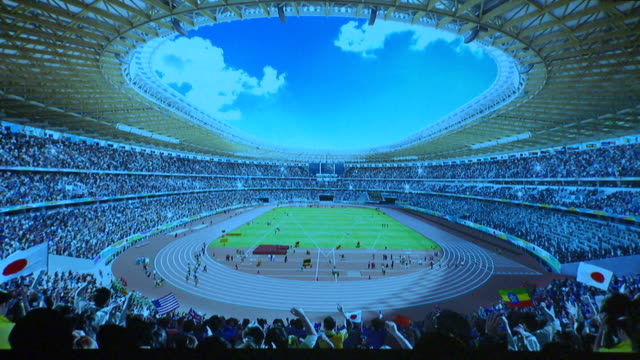 proposal by japanese architect kengo kuma has been selected as the new design for the 2020 tokyo olympics main stadium following the scrapping of the... - 0 1 months stock videos & royalty-free footage
