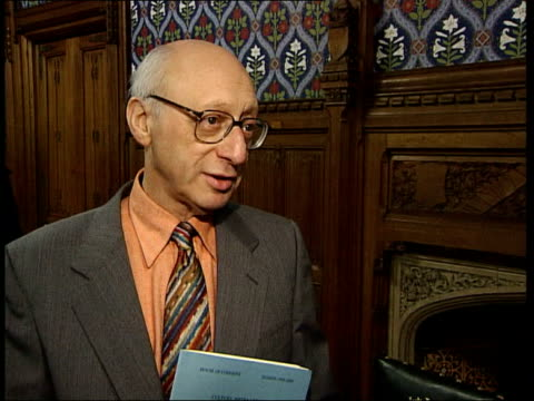 proposed licence fee increase rejected; itn england: london: westminster: int gerald kaufman mp interview sot - bbc knew it would be launched into... - gerald kaufman stock videos & royalty-free footage